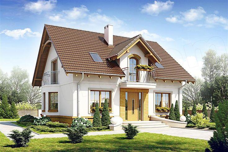 projekt Dom Dla Ciebie 1 w3 bez garażu [B] WRF1719