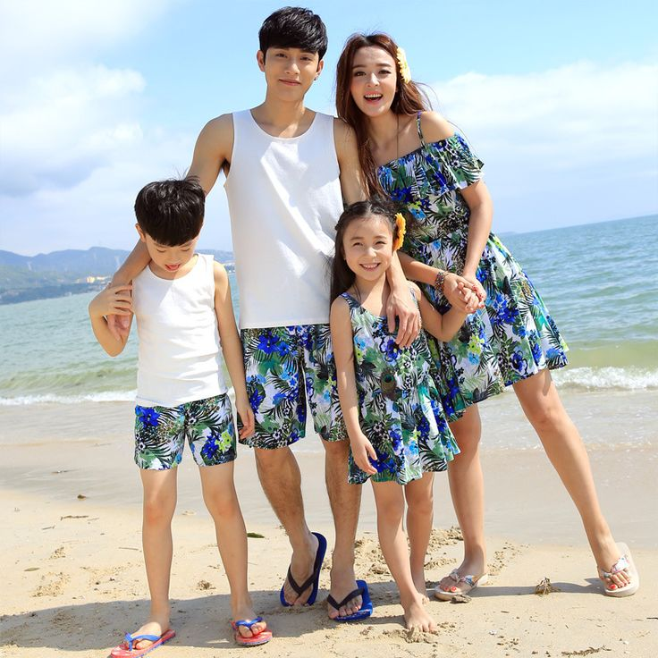 2016 New Summer Mom and Daughter Dress Matching father and son t shirt + shorts set Family Cloth Girls and Mom Dress Beach Dress > Nice plus size clothing shop for everybody