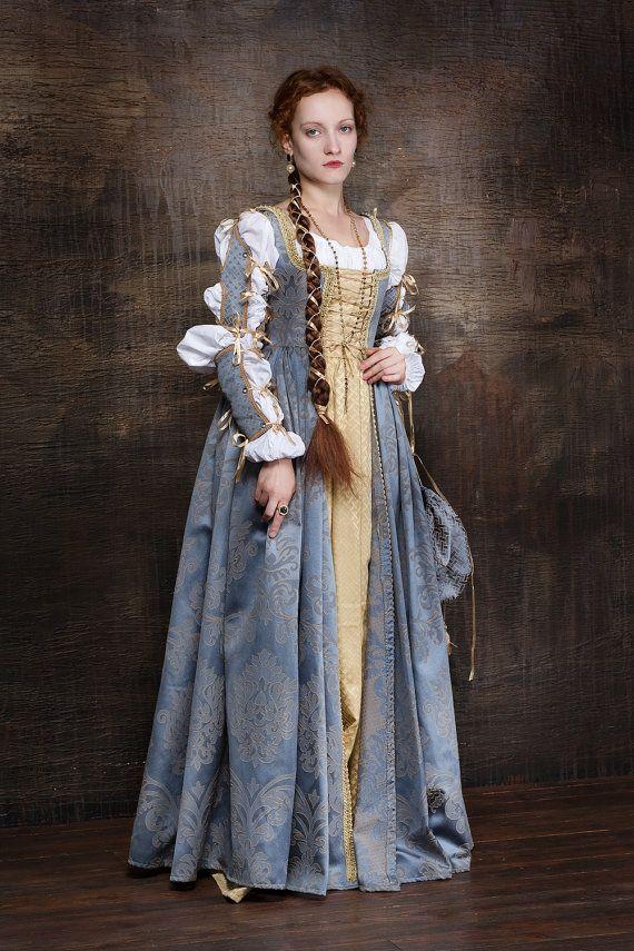 Robe de femme italienne Renaissance mis 15ème-16ème siècle