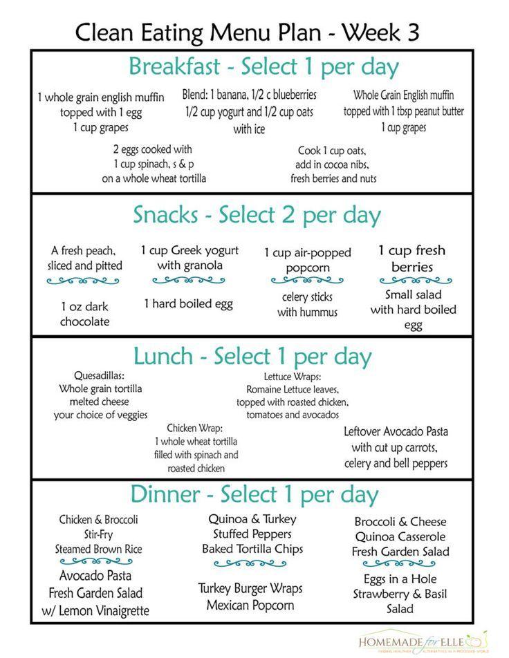 Best  Clean Eating Meal Plan Ideas On   Clean Meal