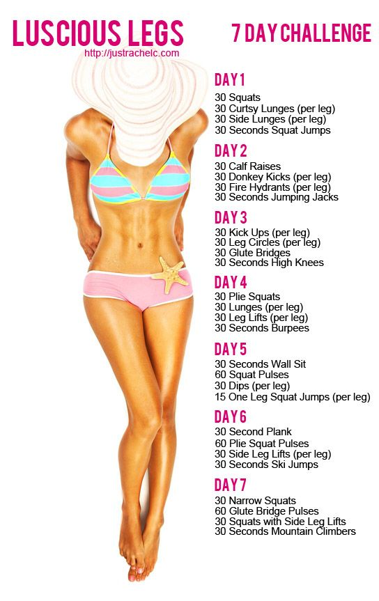 Luscious Legs 7 Day Challenge - Join me on facebook for more free challenges: http://facebook.com/lowcarbfitchick  Or sign up for my free 21 Day Challenge ebook: http://free21daychallenge.com