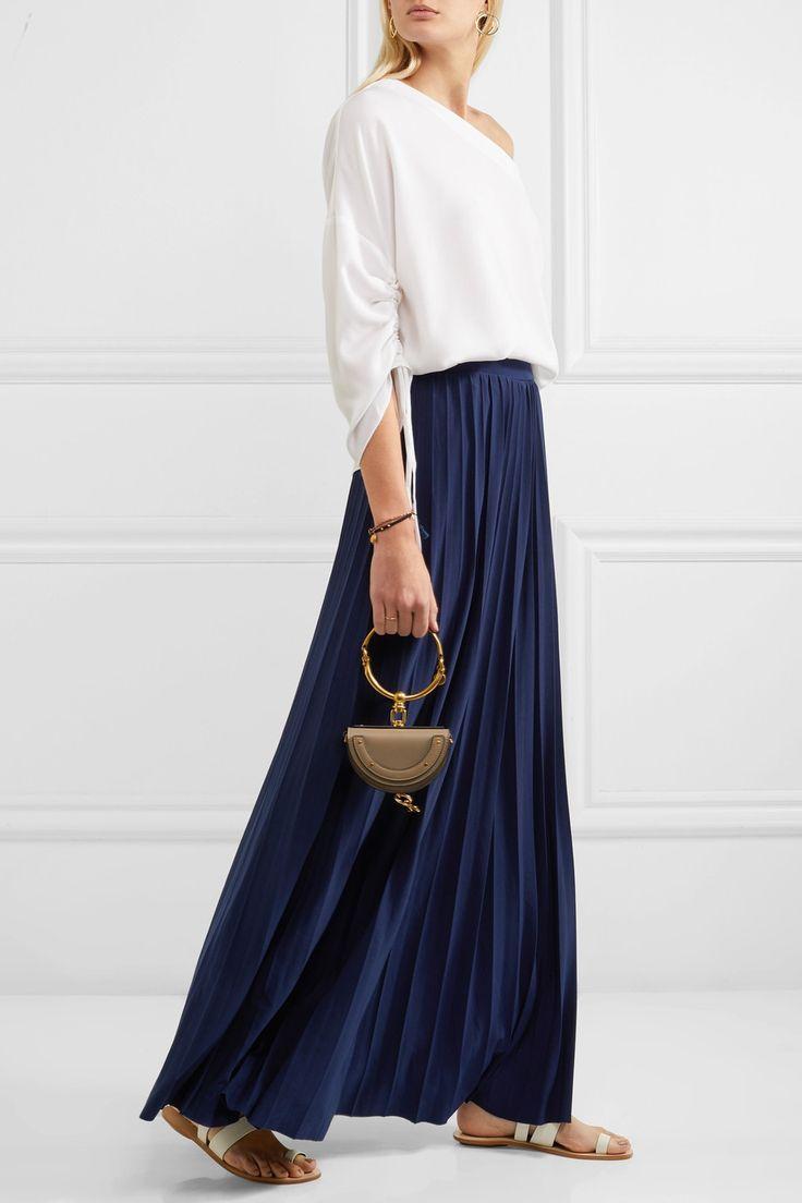 MICHAEL Michael Kors | Perma pleated stretch-jersey maxi skirt | NET-A-PORTER.COM