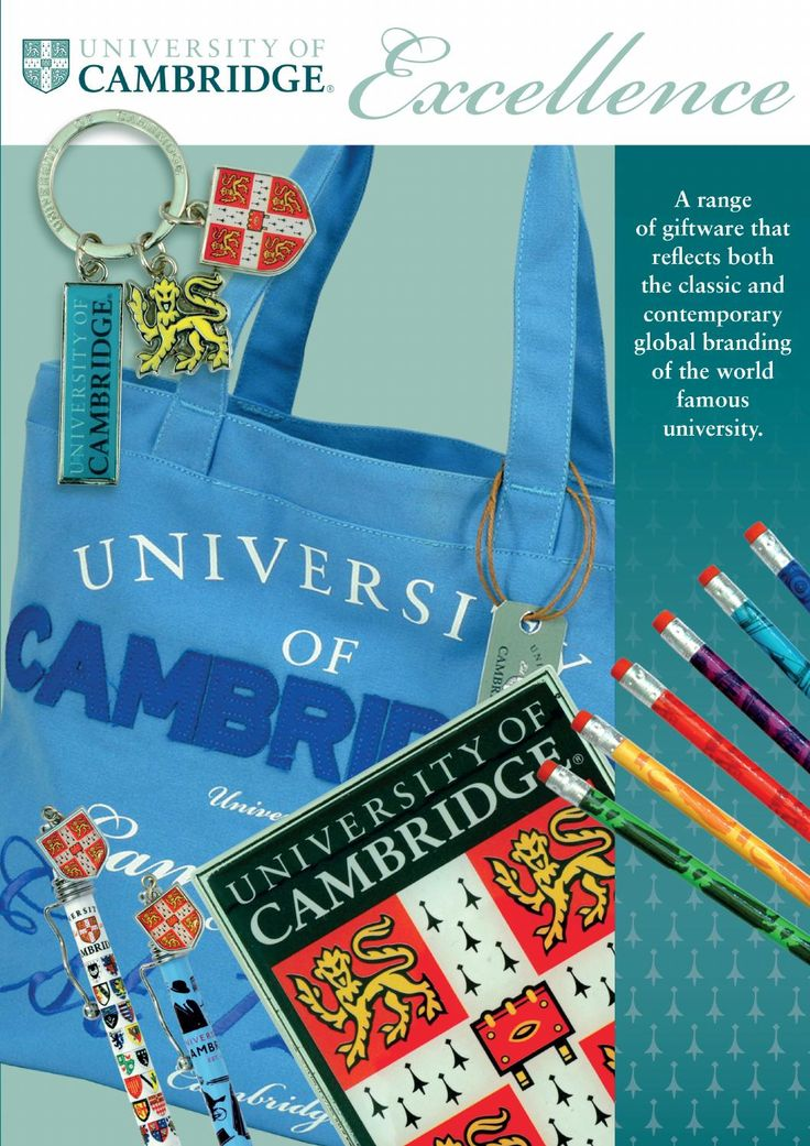 Elgate Cambridge University Giftware Brochure -  products available from many gift shops around Cambridge