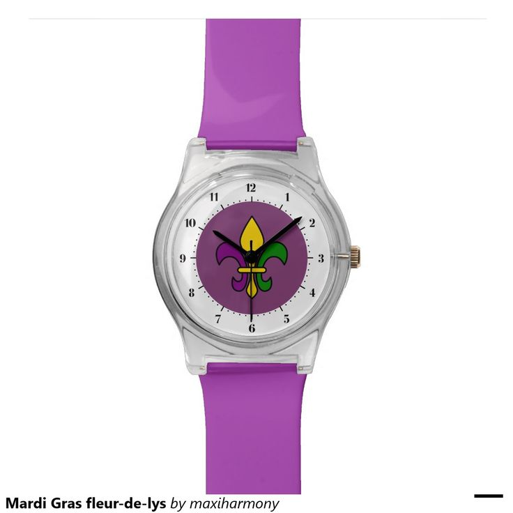 Mardi Gras fleur-de-lys Wrist Watches