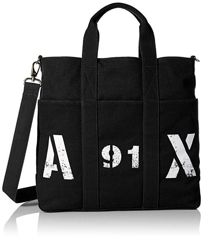 4fd84b9d4fa9  Affiliate  Amazon.com  Armani Exchange Men s Printed Ax Logo Canvas Tote  with Crossbody Strap