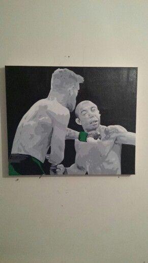 Conor mcgregor jose aldo ufc 194 acrylic pop art painting by rick kelly 20 x 24 inch €120