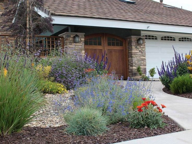 California native landscape designs california friendly for Front yard bush ideas