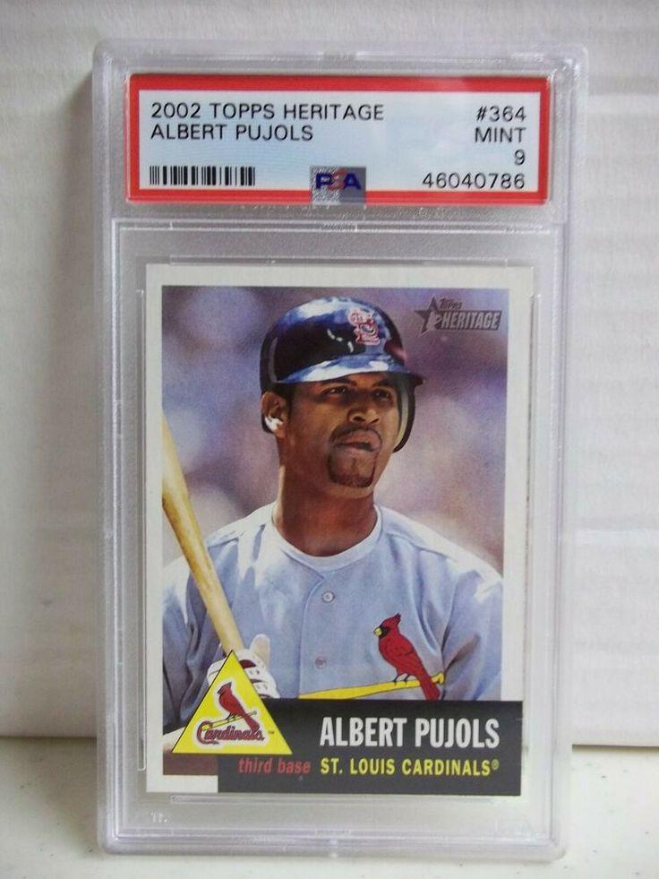 2002 Topps Heritage Albert Pujols Psa Mint 9 Baseball Card 364 Single Print Stlouiscardinals Baseball Cards Albert Pujols Baseball