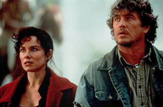 "Barbara Hershey and Tom Berenger in ""Last of the Dogmen"""