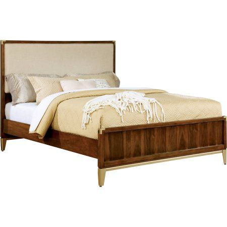 Furniture of America Eilith Fabric California King Bed, Dark Oak
