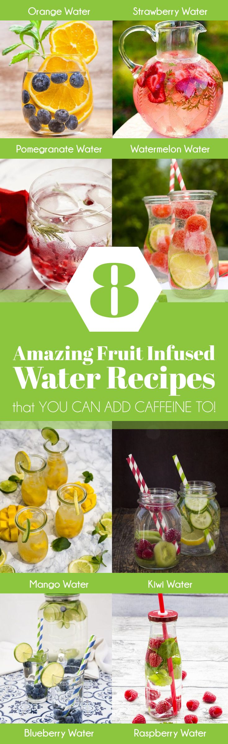Learn what fruit water recipes will give you energy and keep you healthy!   https://purelyft.com/8-amazing-fruit-infused-water-recipes-that-you-can-add-caffeine-to/