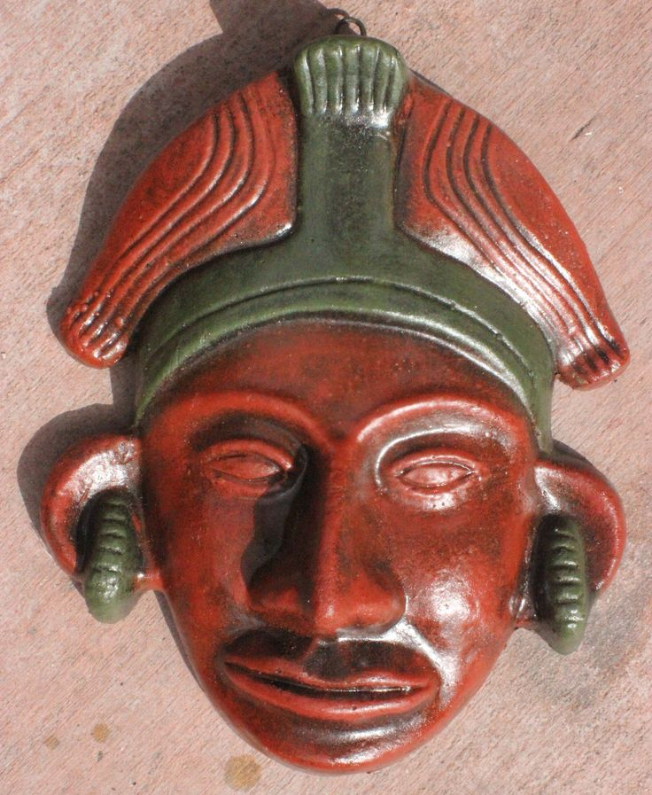 Aztec mask wall decor hecho de mano products pinterest for Aztec decoration