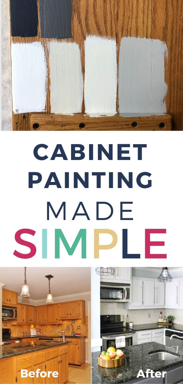 Learn To Paint Kitchen Cabinets For Long Lasting Results Painting Kitchen Cabinets Kitchen Paint Update Kitchen Cabinets
