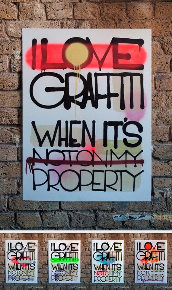 Me encanta el graffiti cuando no está en mi propiedad