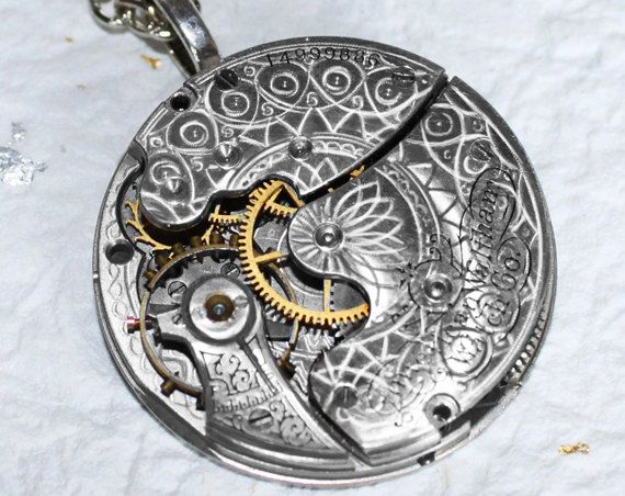Steampunk Necklace  Spectacular 106 Yrs Old by TimeInFantasy
