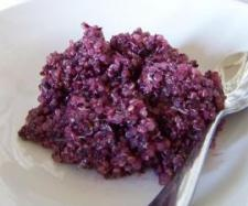 Blueberry Quinoa with Cinnamon and Honey in thermomix
