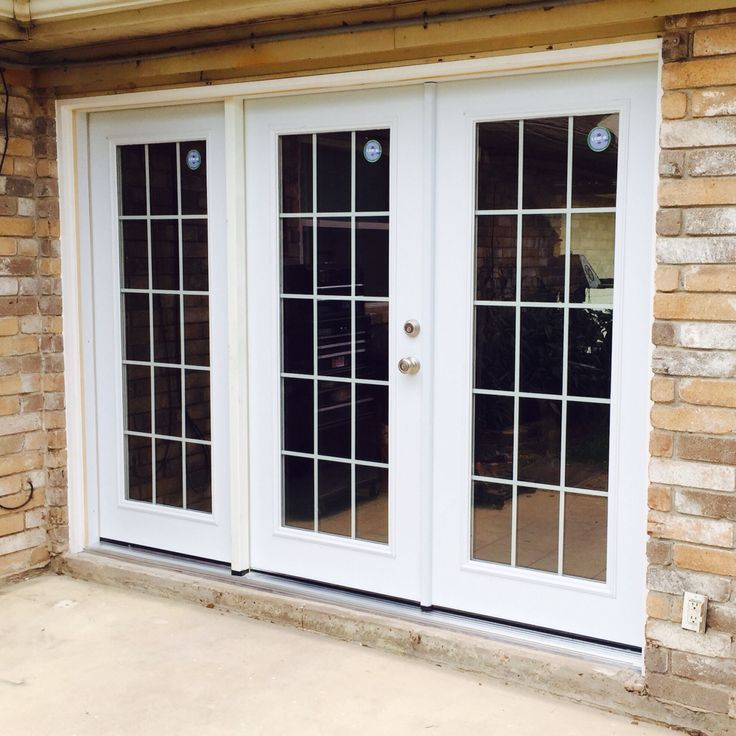 Simple white patio door quality door installations for Quality patio doors