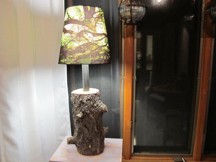 quick diy stump lamp: Diy Stumps, Crafts Ideas, Lamps Shades, Logs Lamps, Lamps Logs, Cool Lamps, Floors Lamps, Stumps Lamps, Trees Stumps