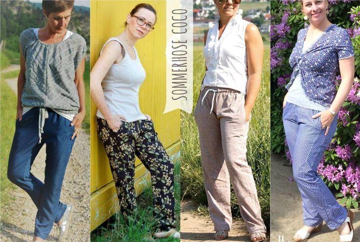 """eBook - """"#53 COCO SOMMERHOSE"""" von Sara & Julez. Hose für den Sommer - Allrounder für Damen zum Nähen als Slimfit aus Viscose, Jeans, Chambray, Leinen, etc."""