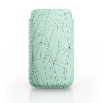 Handyhülle Polygon, Vorderansicht, Farbe: Mint