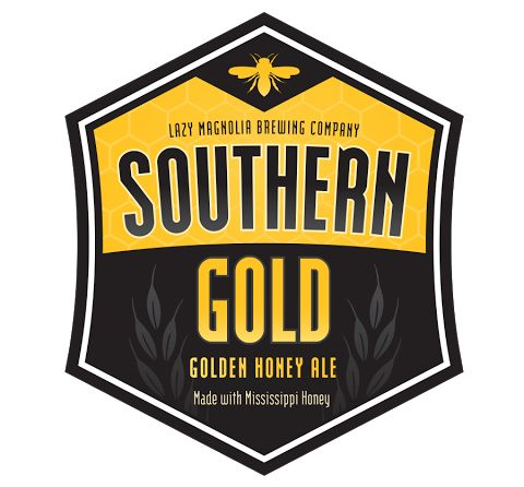 Southern Gold - A Golden Ale made with local honey from Ellisville, Mississippi #lazymagnolia