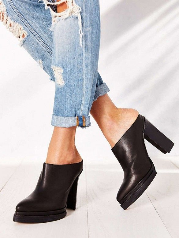 thechicdepartment:  Jeffrey Campbell Bingham Heeled Mules