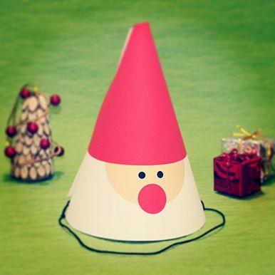 santa cone hat