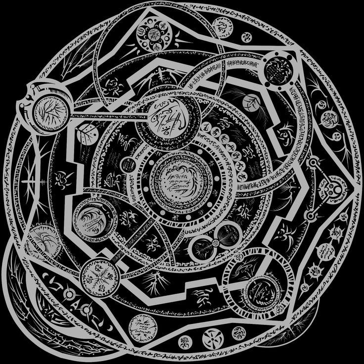 Demon summoning sigils google search symbols for Circular symbols tattoos