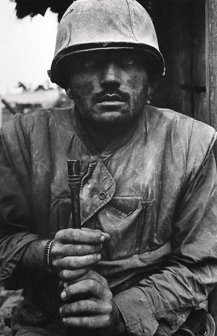 Don McCullin - Shell Shocked US Marine, The Battle of Hue, 1968