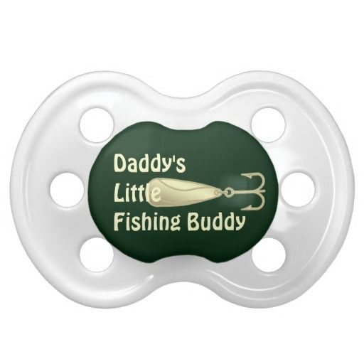 Fishing Spoon Lure Daddys Little Fishing Buddy Pacifier  This cute baby pacifier for dads little fisherman features a yellow gold toned fishing spoon lure with yellow text and a dark green color background. Great for the baby - infant of an angler, fishing guide, outdoors man or woman, sportsman or animal lover.  See more @ http://www.tee-graphix.com/products/fishinhuntin/  #fishing #funny #baby