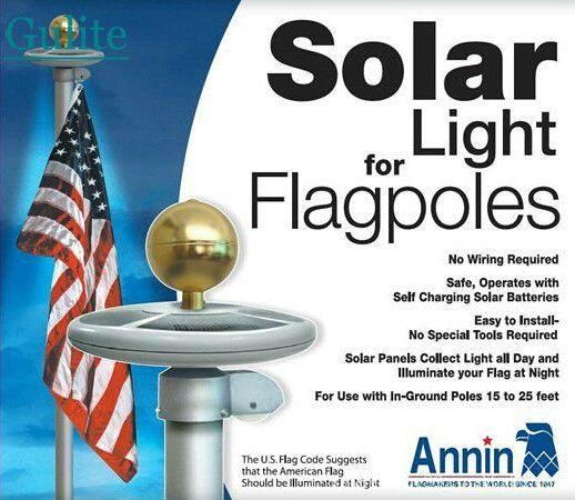 High brightness 26 LED Solar Powered flag pole light solar outdoor Garden Umbrella Landscape LED spot light