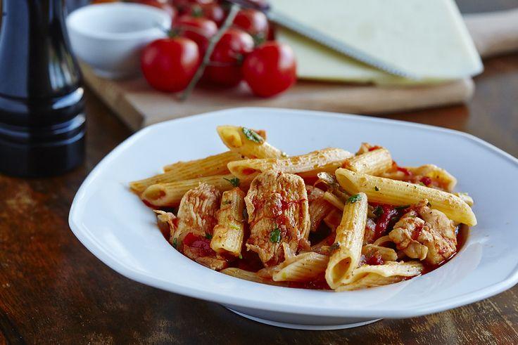 Πέννες με κοτόπουλο και λαχανικά | Pasta with chicken and vegetables