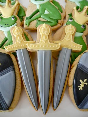 .Oh Sugar Events: Royal sword Cookies