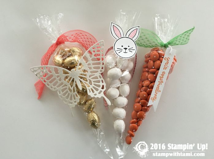 VIDEO: How to make Polka Dot Cone Easter Treats | Stampin Up Demonstrator - Tami White - Stamp With Tami Crafting and Card-Making Stampin Up blog