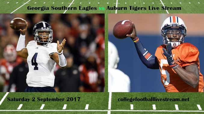 Georgia Southern Eagles vs Auburn Tigers Live Stream Teams: Eagles vs Tigers Time: TBA Week-1 Date: Saturday, 2 September 2017 Location: Jordan-Hare Stadium, Auburn, AL TV: ESPN NETWORK Georgia Southern Eagles vs Auburn Tigers Live Stream Watch College Football Live Streaming Online The Georgia...