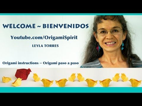Origami Spirit, video instructions and origami resources by Leyla Torres, lots of tutorials here.