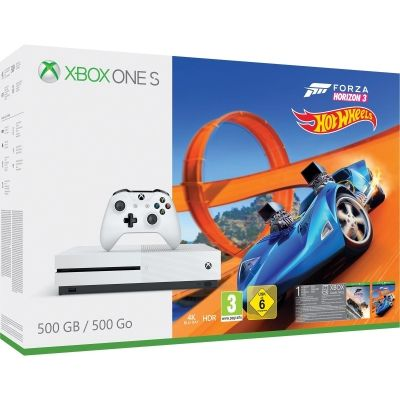 Looking for the best Xbox One bundle deal for Christmas 2017? Check this:  Xbox One S 500GB Forza Horizon 3 & Hot Wheels + FIFA 18 + Halo 5 £190 - in stock now