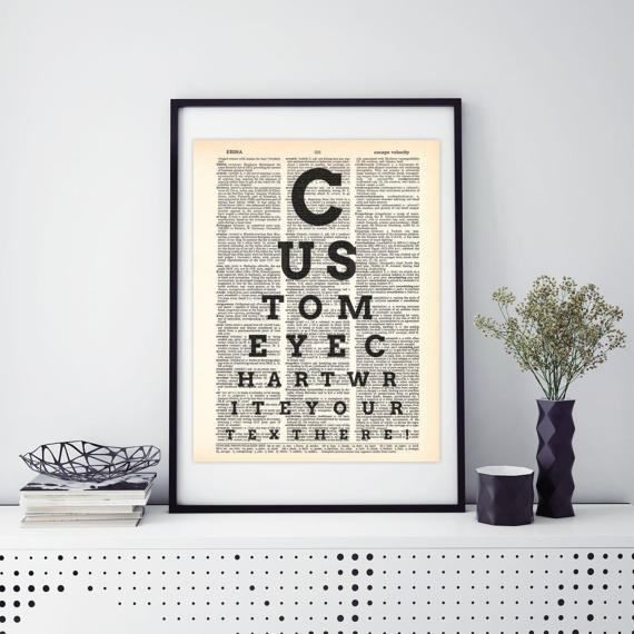 Tabellone oculista testo personalizzato Illustrazione