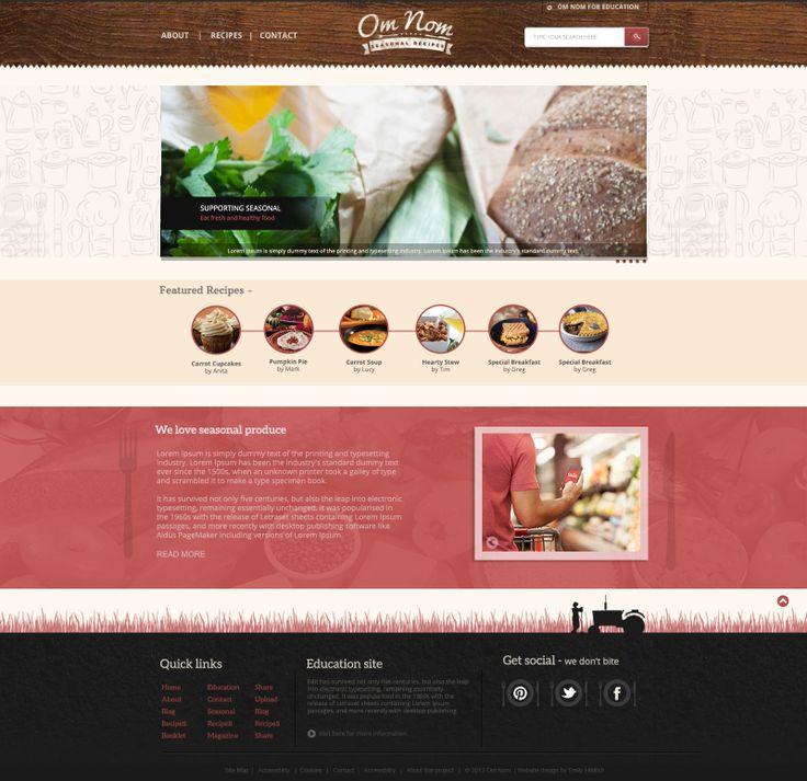 #Food #websitedesign #rusicred #cream #minimaldesign #universityproject