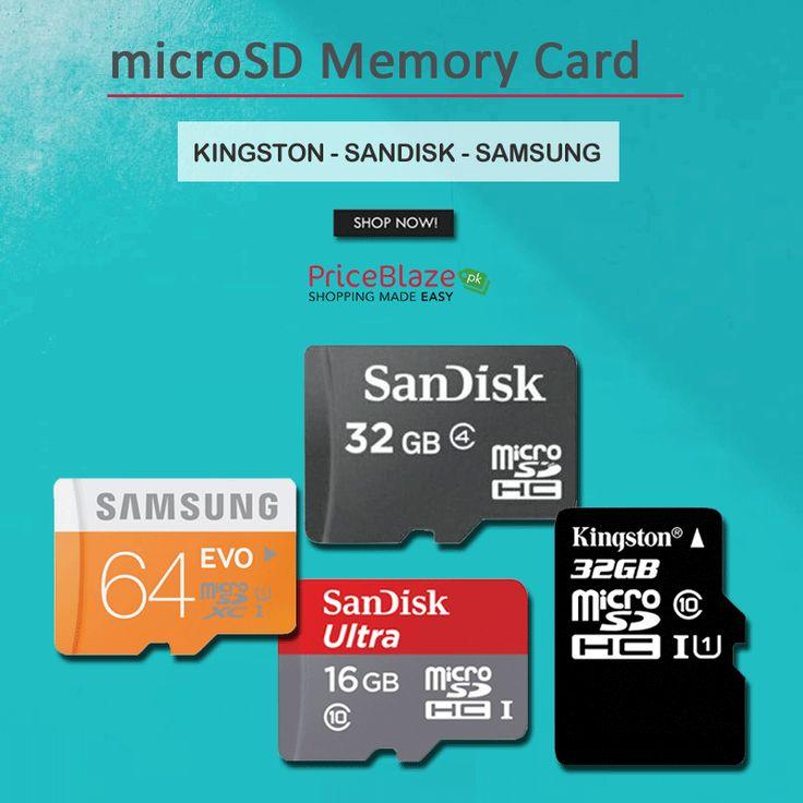 Compare Micro SD Memory Card at #Priceblazepk View: http://ow.ly/BidX30hY1Dg #Sdcard #Microsdcard #Memorycard #Kingston #phonesaccessories #16GB #32GB #64GB #128GB #256GB