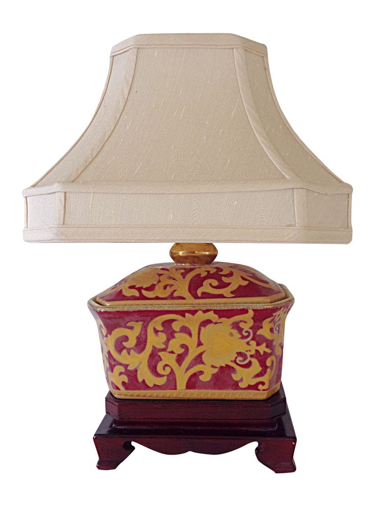 Small Porcelain Asian Table Lamp