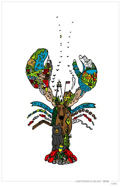 Maine Lobster (by native Maine artist Andrew M. Cook) #JoesCrabShack