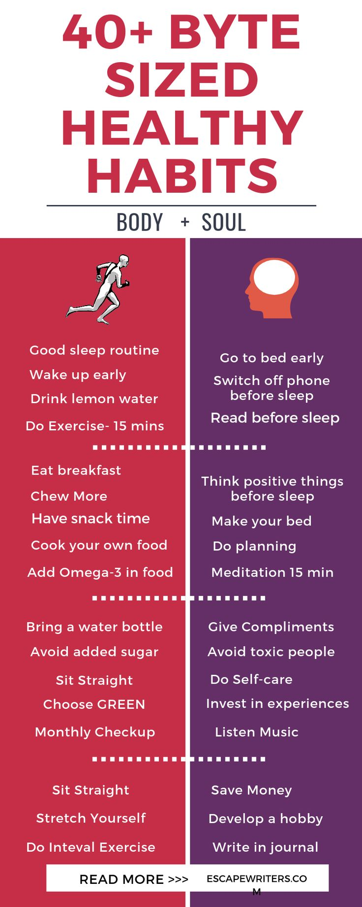 40+ Byte Sized Healthy Habits For Life 1