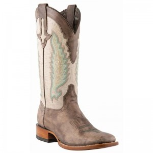 Lucchese Boots Mens El Campo Sanded Cafe Burnished Calf Boots - WESTERN BOOTS - BOOTS #boots @luchesse #boots @Baskins Western