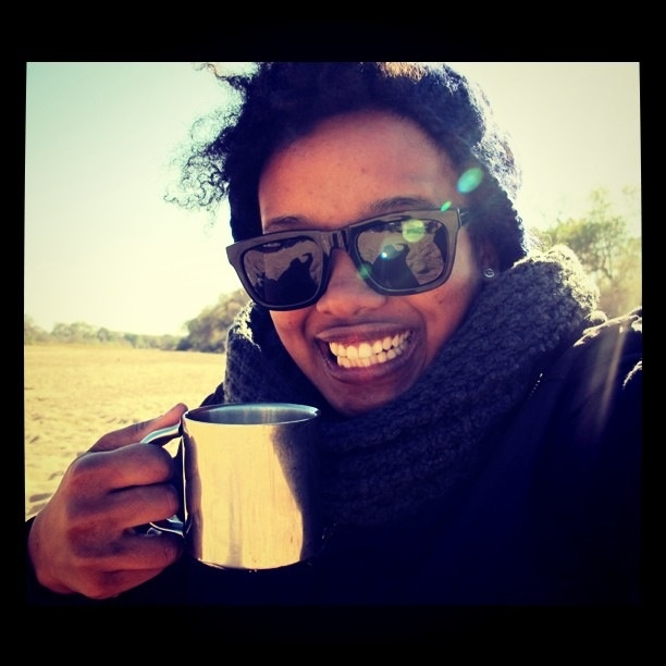 Tea break on the empty river bed during a morning Safari drive. Life is so damn good!