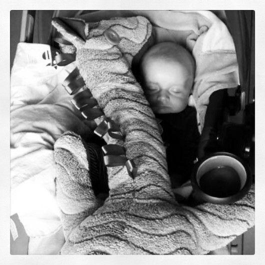 Bibi cuddle with a little angel.