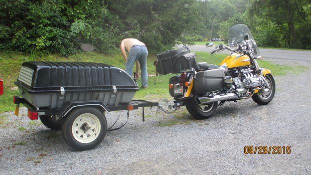 Résultats de recherche d'images pour «tow behind motorcycle trailer»