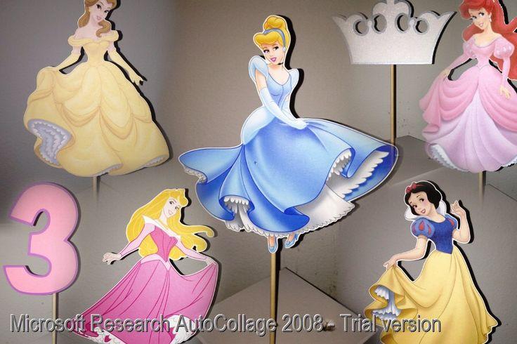 Disney Princess Centerpiece Picks - Set of 7 by YourPartyShoppe on Etsy https://www.etsy.com/listing/66377151/disney-princess-centerpiece-picks-set-of