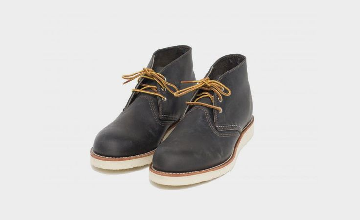 Red Wing Work Chukka In Charcoal | Cool Material