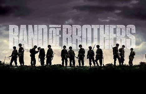 Band of Brothers. One of the few times I will say the film is as good as the book.